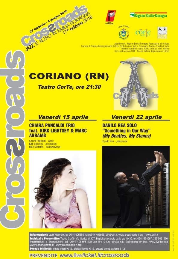 Chiara Pancaldi trio al Teatro CorTe di Coriano
