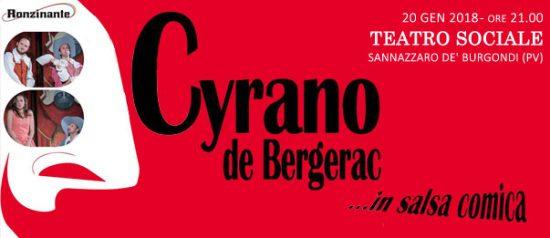 Cyrano De' Bergerac...in salsa comica al Teatro Sociale a Sannazzaro de' Burgondi