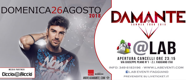 Andrea Damante Live DJ set a LAB Eventi a Faggiano