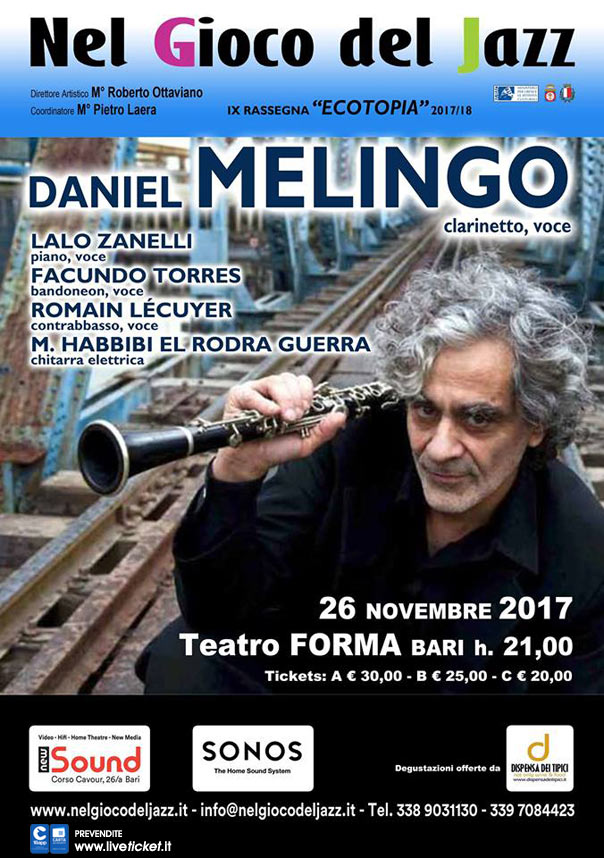 Daniel Melingo al Teatro Forma di Bari