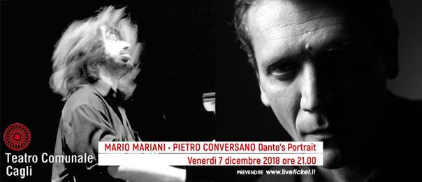 """Mario Mariani e Pietro Conversano """"Dante's Portraits"""" al Teatro Comunale di Cagli"""