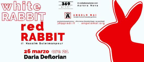 Daria Deflorian - White Rabbit Red Rabbit all'Angelo Mai di Roma