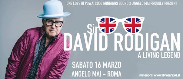 Sir David Rodigan - A Living Legend all'Angelo Mai di Roma
