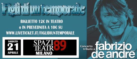 Figli di un temporale allo Spazio Teatro 89 di Milano