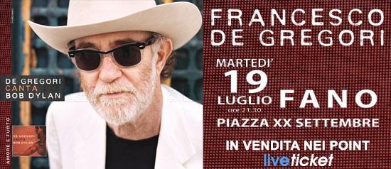 Francesco De Gregori in concerto a Fano