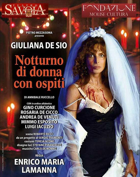 """Giuliana De Sio """"Notturno di donna con ospiti"""" al Teatro Savoia di Campobasso"""
