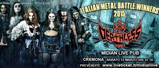Deathless - Horror Metal + guest al Midian Live Pub di Cremona