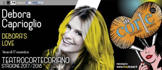 """Debora Caprioglio """"Debora's love"""" al Teatro CorTe di Coriano"""