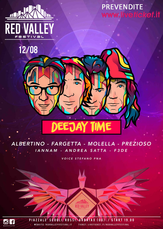 Deejay Time Reunion al Red Valley Festival 2016 a Tortolì