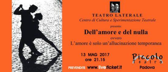 Dell'amore e del nulla al Piccolo Teatro di Padova