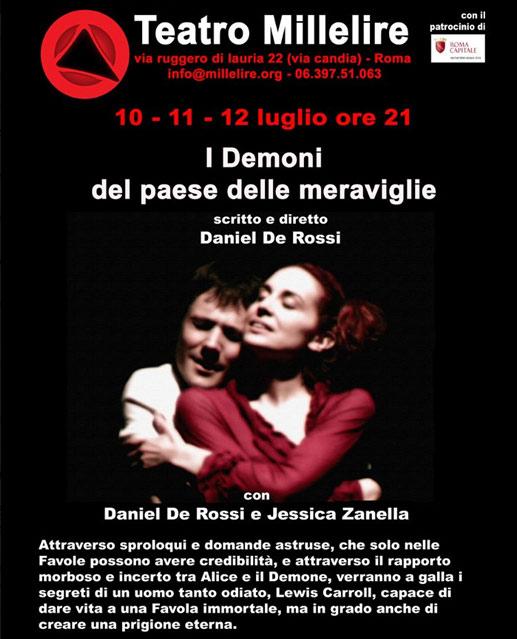 """""""I demoni del paese delle meraviglie"""" al Teatro Millelire di Roma"""