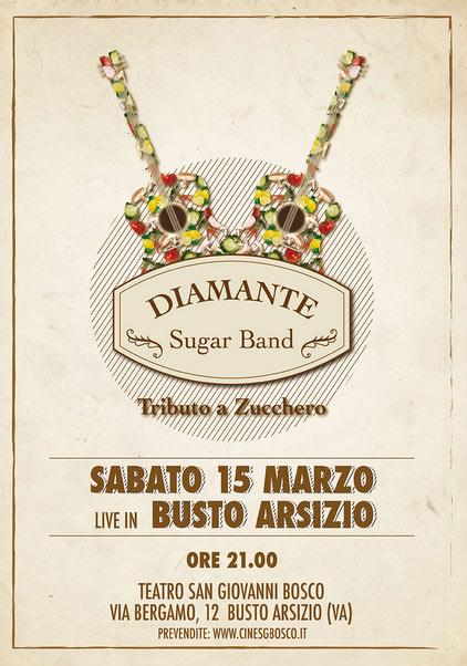 Diamante sugar band live al Teatro San Giovanni Bosco di Busto Arsizio