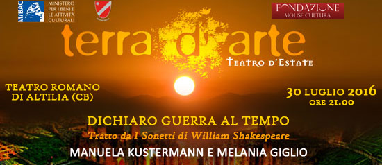 """""""Dichiaro guerra al tempo"""" a Terra d'Arte estate 2016 a Sepino"""