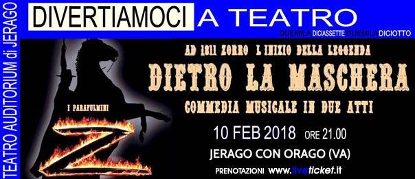 Dietro la maschera all'Auditorium Jerago a Jerago con Orago