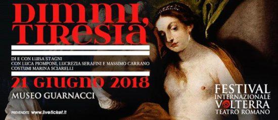 Dimmi, Tiresia al Museo Guarnacci a Volterra