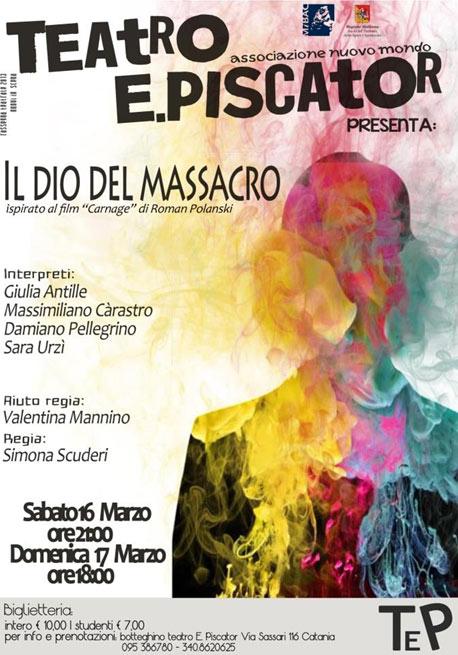 Il dio del massacro al Teatro Erwin Piscator di Catania