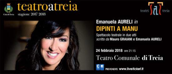 "Emanuela Aureli ""Dipinti a Manu"" al Teatro Comunale di Treia"