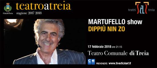 """Martufello show """"Dippiù nin zo"""" al Teatro Comunale di Treia"""