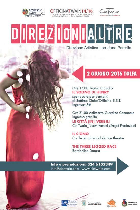 """direzioniAltre """"Rassegna di danza e teatro"""" a Tolfa"""