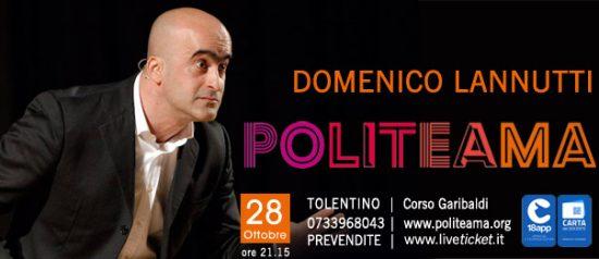 Domenico Lannutti al Politeama di Tolentino