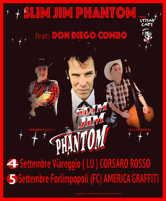 Slim Jim Phantom feat Don Diego Combo a Viareggio