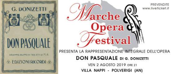 """Marche Opera Festival """"Don Pasquale"""" a Villa Nappi a Polverigi"""