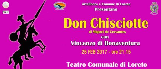 Don Chisciotte con Vincenzo Di Bonaventura al Teatro Comunale di Loreto