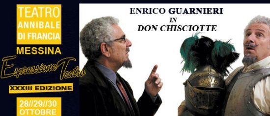 "Enrico Guarneri in ""Don Chisciotte"" al Teatro Annibale di Francia a Messina"