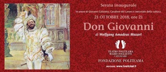 Don Giovanni al Teatro Politeama di Catanzaro