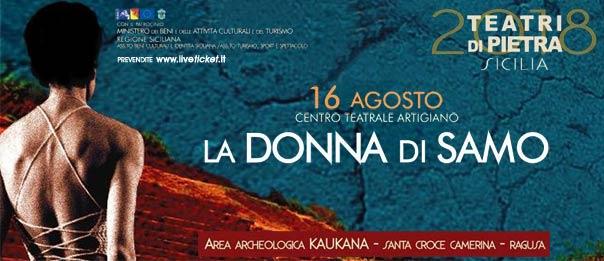 La Donna di Samo al Parco archeologico di Kaucana a Santa Croce Camerina