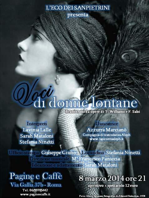 Voci di Donne Lontane al Pagine e Caffè di Roma