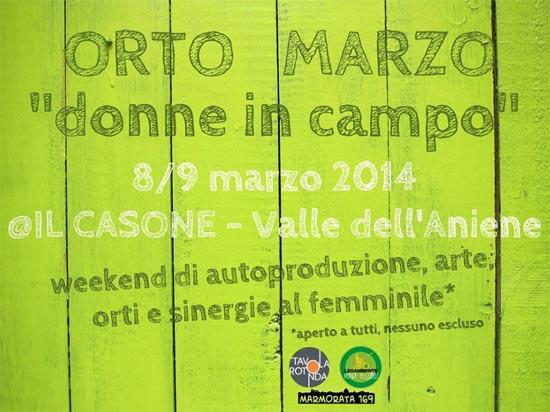 Orto marzo: donne in campo a Il Casone - Valle dell'Aniene di Anticoli Corrado