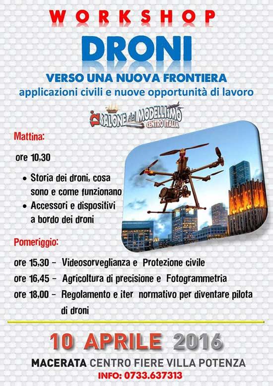 Droni alla Fiera Campionaria dell'Usato al Centro Fiere Macerata