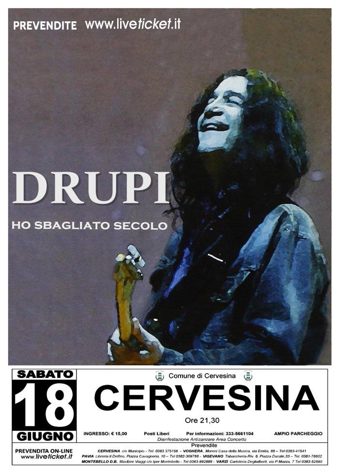 """Drupi """"Ho sbagliato secolo"""" live a Cervesina"""