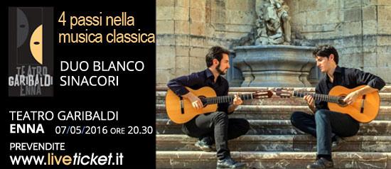 Duo Blanco Sinacori al Teatro Garibaldi di Enna