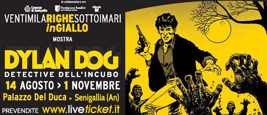 "Dylan Dog al Festival ""Ventimilarighesottoimari in Giallo"" a Senigallia"