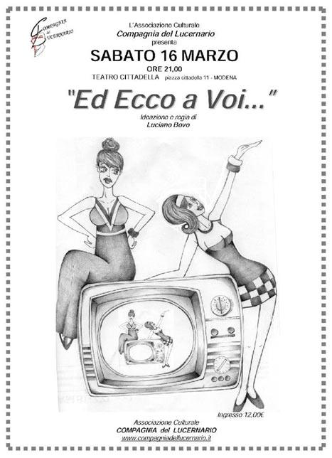 """""""Ed Ecco a Voi..."""" al Teatro Sociale di Cittadella"""