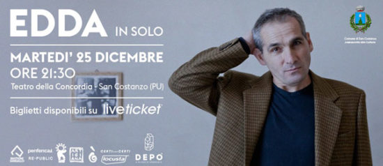 Edda in solo al Teatro Della Concordia di San Costanzo