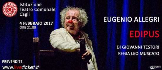 """Eugenio Allegri """"Edipus"""" al Teatro di Cagli"""