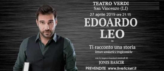 "Edoardo Leo ""MiTi racconto una storia"" al Cinema Teatro Verdi di San Vincenzo"