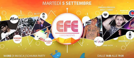 EFE 2017 - Evento Fine Estate al Naki Beach a Salice Terme