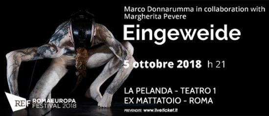 "Romaeuropa Festival 2018 - Marco Donnarumma with Margherita Pevere ""Eingeweide"" a La Pelanda a Roma"