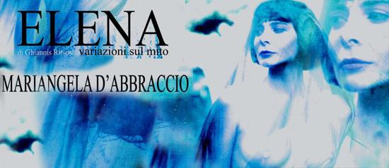 """Mariangela D'Abbraccio in """"Elena"""" all'Area Archeologica Vassallaggi di San Cataldo"""