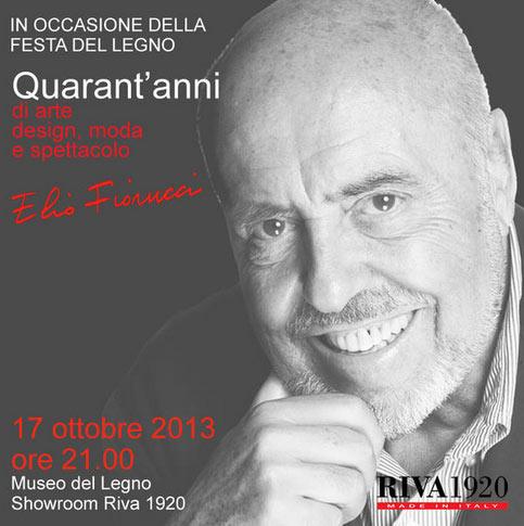 Serata con Elio Fiorucci alla Festa del Legno 2013 a Cantù