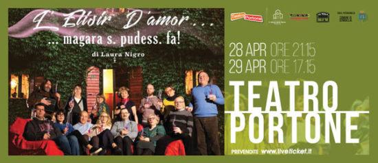 L'elisir d'amor… magara s. pudess. fa! al Teatro Portone di Senigallia