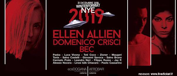 Ellen Allien at With Love NYE + Domenico Crisci - Bec al ECS Dogana Club a Catania