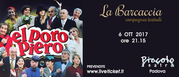El poro Piero al Piccolo Teatro di Padova