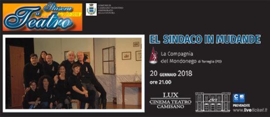 El Sindaco in Mudande al Teatro Lux di Camisano Vicentino