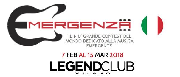 Emergenza Festival al Legend Club di Milano