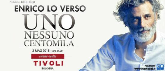 """Enrico Lo Verso """"Uno Nessuno Centomila"""" al Teatro Tivoli di Bologna"""